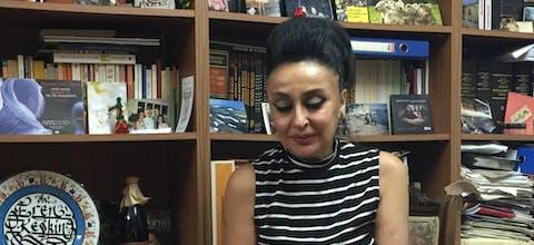 Advocate Eren Keskin uit Turkije leest solidariteitsbrieven