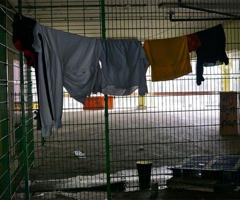 Afgewezen asielzoekers verblijven in Vluchtgarage, Amsterdam