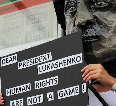 Dear president Lukashenko, human rights are not a game!