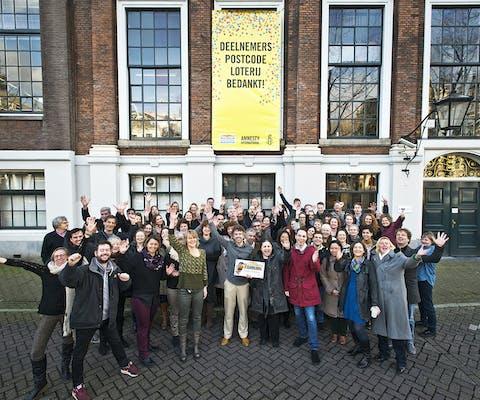 Het landelijk secretariaat van Amnesty International Nederland in Amsterdam