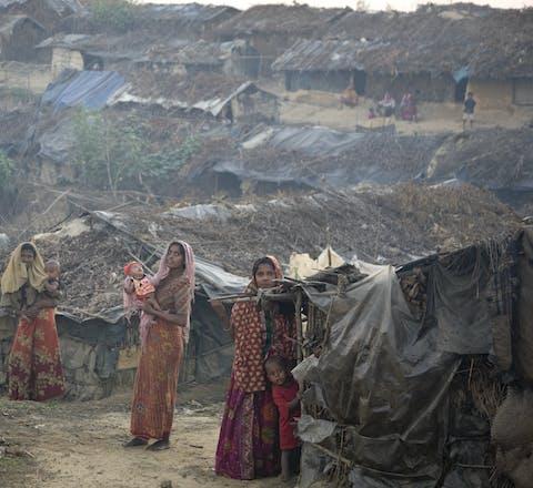 Vluchtelingenkamp voor Rohingya in Bangladesh.