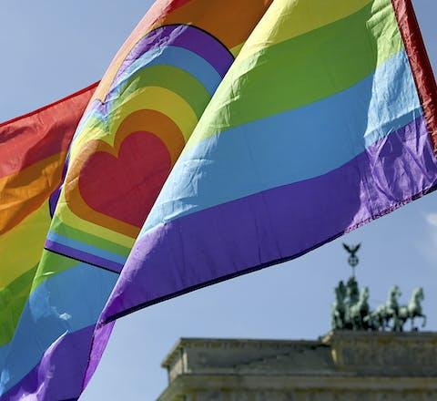 In Berlijn werd op 17 mei 2017 gedemonstreerd tegen homofobie.
