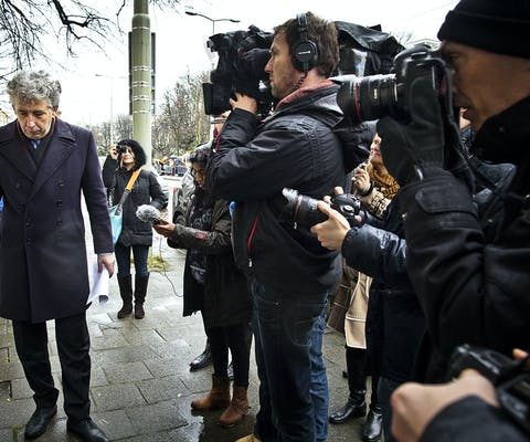 Demonstratie voor de Ambassade van Saudi-Arabië in Den Haag voor de vrijlating van Raif Badawi