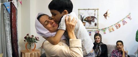 De prominente Iraanse mensenrechtenactivist Nasrin Sotoudeh, vlak na haar vrijlating uit de gevangenis