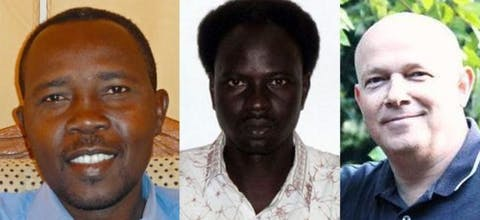 Petr Jezek, Hassan Kodi en Abdulmonem Abdumawla uit Sudan