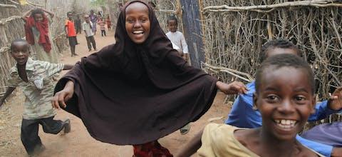 Kinderen in Dadaaab vluchtelingenkamp.