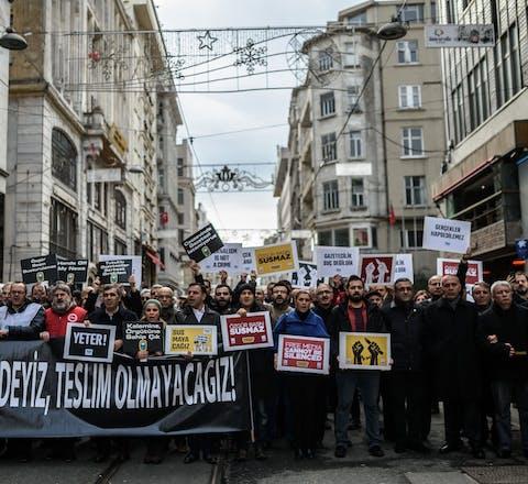 Demonstratie Turkije