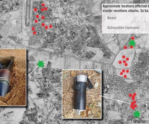Braziliaanse clustermunitie gebruikt in Jemen.