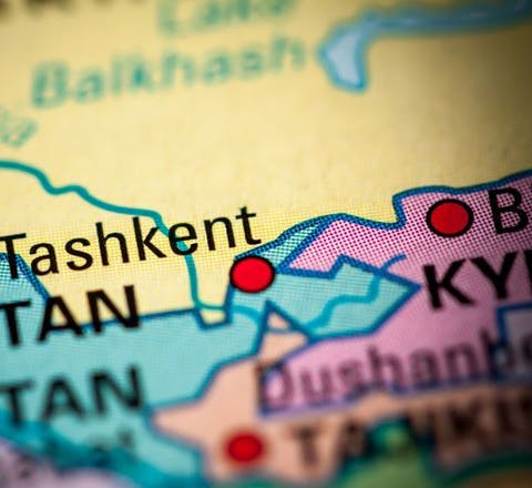 Kaart Oezbekistan