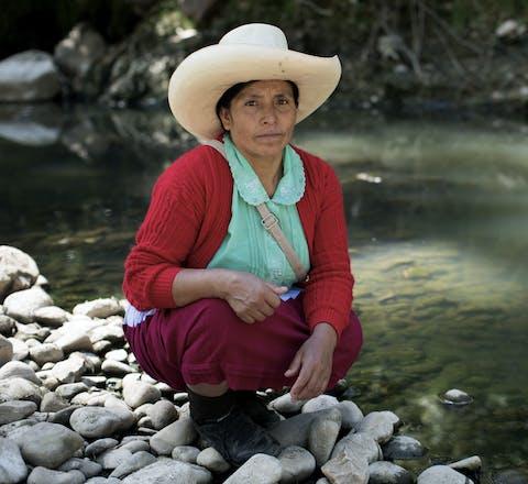 Máxima Acuña uit Peru