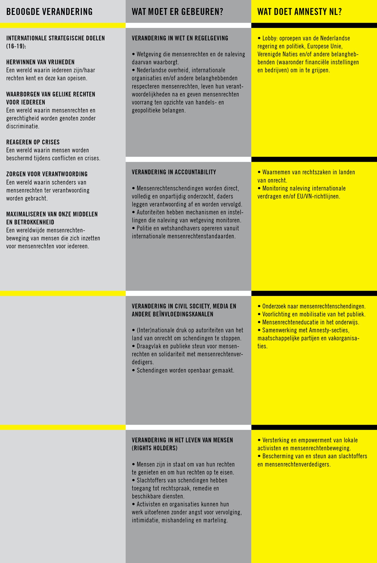 Super Strategie, beleid, visie en missie - Amnesty International &SL47
