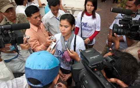 De Cambodjaanse mensenrechtenverdediger Tep Vanny
