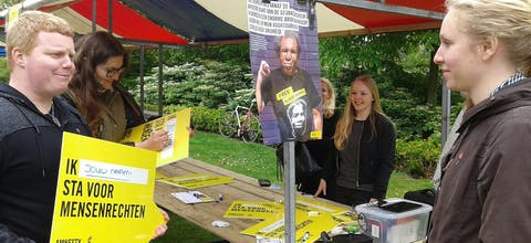Actie Bevrijdingsdag Amsterdam