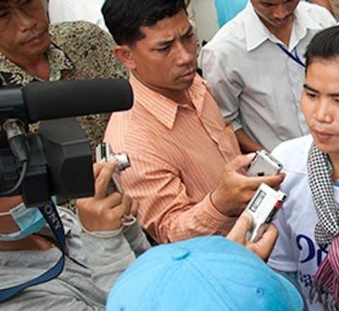 De Cambodjaanse mensenrechtenverdedigster Tep Vanny. Foto: Thomas