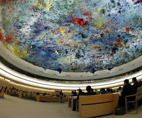 Universal Periodic Review sessie bij de VN in Geneve