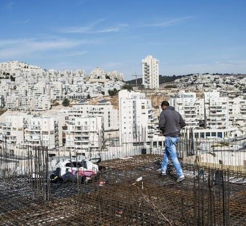 Bouwplaats van Israëlische nederzetting