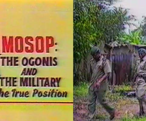 MOSOP en Major Paul Okuntimo