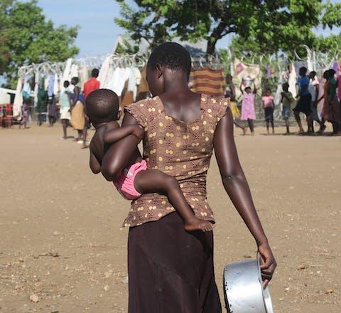 Zuid-Sudanese vluchtelingen in Uganda