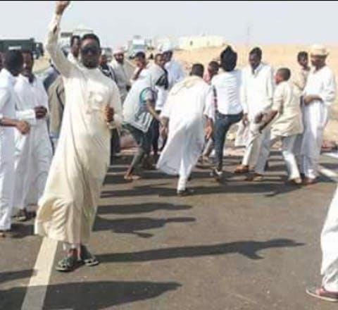 protest Nubian activist