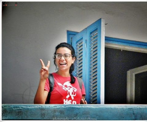 De Egyptische mensenrechtenverdediger Mahienour el-Massry