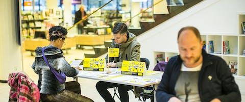 Schrijfmarathon 2017 in Haarlem
