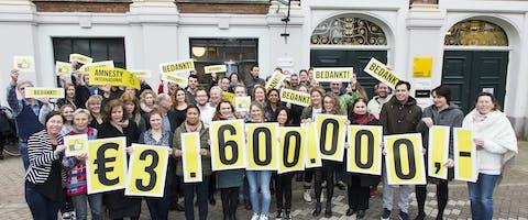 Amnesty krijgt 3,6 miljoen euro van de Nationale Postcode Loterij