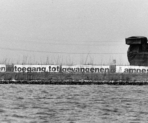 'Marteleiland' in het Gooimeer, 1985