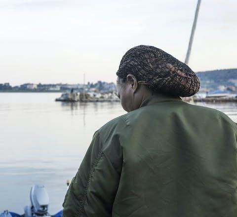 Vluchteling uit Cameroon op Lesbos