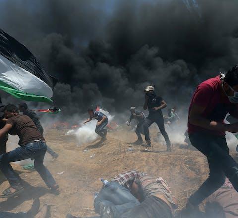 Protesten bij de Gazastrook