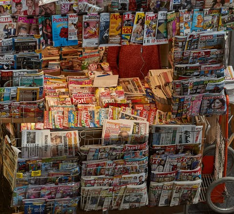 Hongaarse krantenkiosk