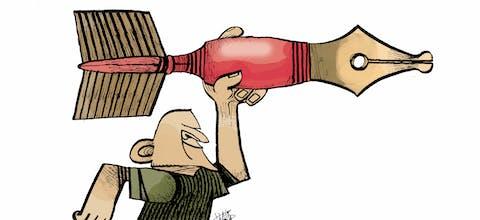 Cartoon van de Maleisische cartoonist Zunar,28 Sept 2015