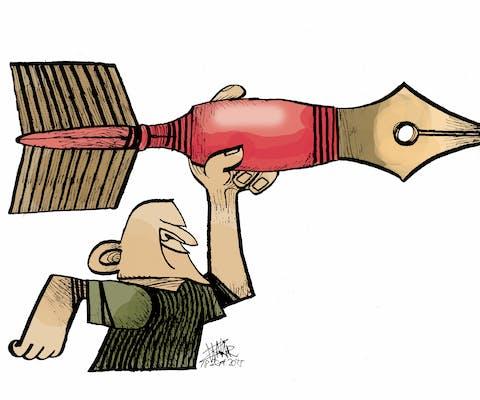Cartoon van de Maleisische cartoonist Zunar, 28 Sept 2015