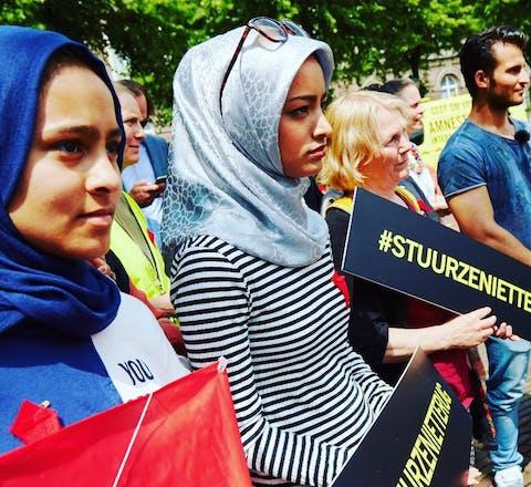 Actie bij de Tweede Kamer tegen uitzettingen naar Afghanistan