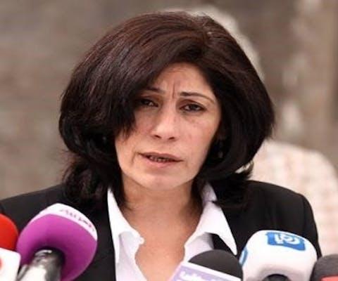 Khalida Jarrar uit Palestina is een uistgesproken criticus van de Israëlische bezetting van Palestijnse gebieden