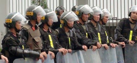 Oproerpolitie in Vietnam