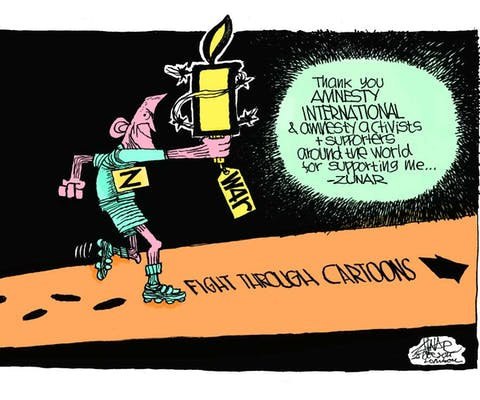 Cartoonist Zunar uit Maleisië bedankt Amnesty voor de steun
