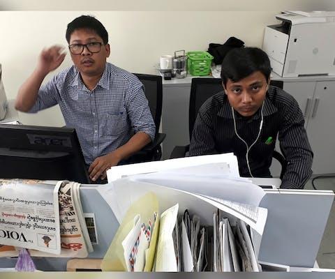 Reuters-journalisten Wa Lone en Kyaw Soe Oo uit Myanmar