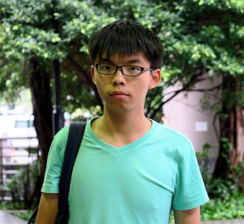 Joshua Wong, medeoprichter van Demosisto in Hongkong