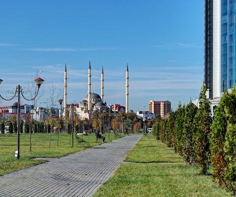 Grozny, de hoofdstad van de Russische deelrepubliek Tsjetsjenië