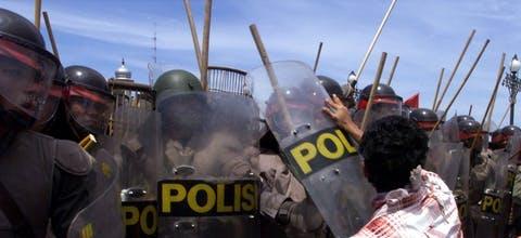 Indonesië politiegeweld