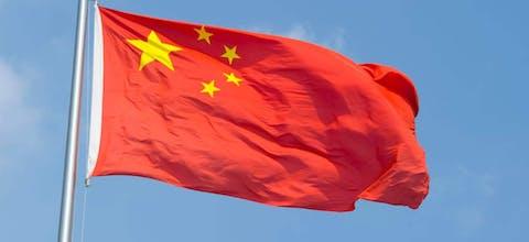 De vlag van de Volksrepubliek China