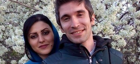 De Iraanse mensenrechtenverdedigers Arash Sadeghi en Golrokh Ebrahimi Iraee