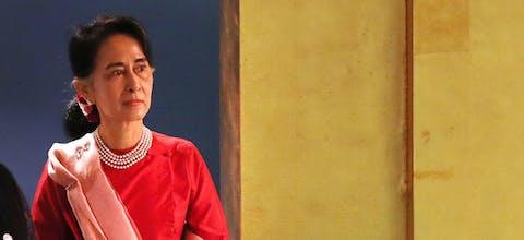 Leider van Myanmar Aung San Suu Kyi
