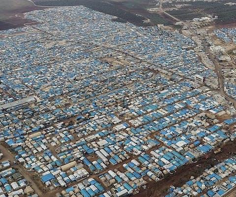 Het kamp Al-Karama in de Syrische provincie Idlib