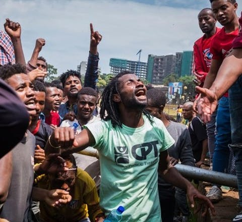 Onrust in Ethiopië. In Addis Ababa werden bijna 3.000 jongeren opgepakt
