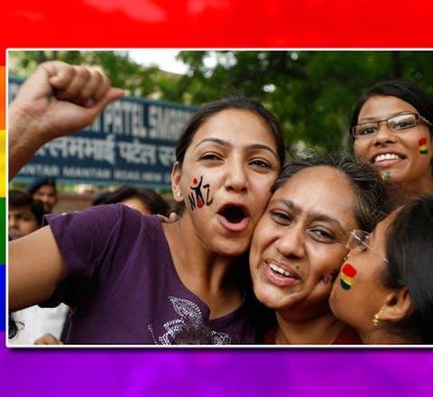 In India is een relatie tussen twee mensen van hetzelfde geslacht niet langer strafbaar