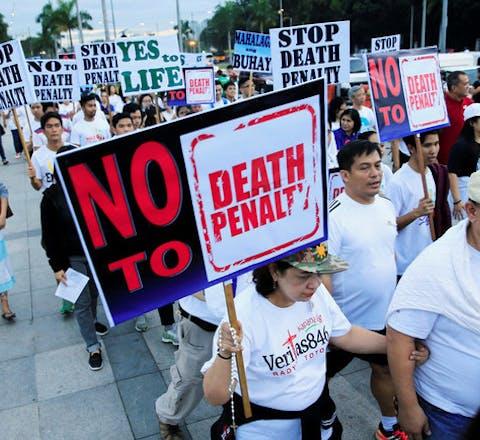Demonstratie tegen de doodstraf op de Filipijnen