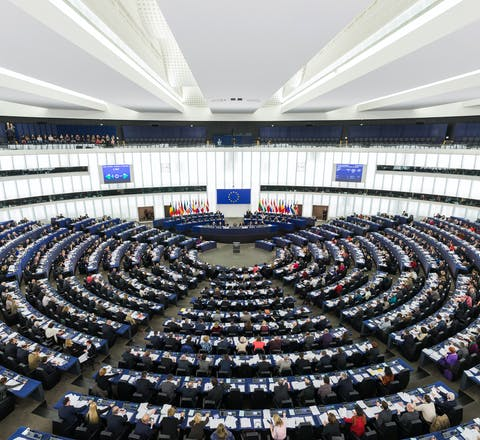 Het Europees Parlement in Straatsburg