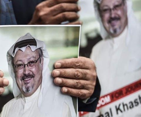 Jamal Khashoggi, journalist uit Saudi-Arabië, werd in het Saudische consulaat in Istanbul vermoord.