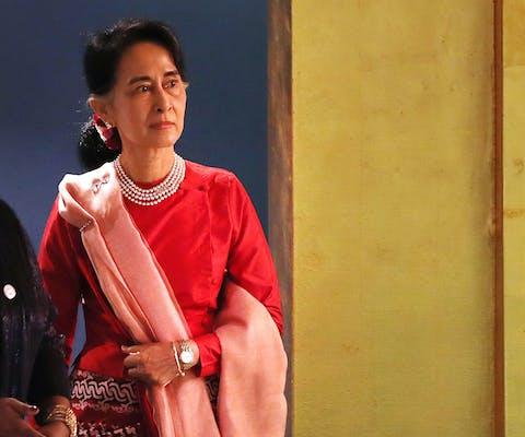 Aung San Suu Kyi bij de VN in 2016